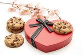 Cookies med kära symbol — Stockfoto