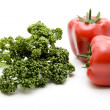 Parsley freshly and paprika — Stock Photo