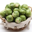 Brussels sprouts in the basket - Stock Photo