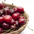 Cherries in the basket — Stock Photo