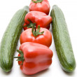 Cucumber with Capsicum — Stock Photo #11972114