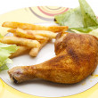 Roasted chicken — Stock Photo #11974815