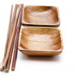 Wooden bowl — Stock Photo