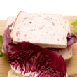 Liver cheese with Radicchio - Stock Photo