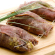 Filled beef Roulade — Stock Photo