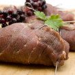 Stock Photo: Filled beef Roulade