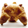 Lye croissant for breakfast — Stock Photo
