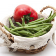 Capsicum with green beans — Stock Photo