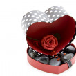 Stock Photo: Gift box with rose