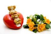 Rose con cuore — Foto Stock