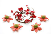 Heart wreath with pearls — Stock Photo