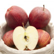 Fresh apples in basket — Stock Photo #12388835