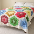 Bed with quilt - Foto de Stock