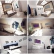 3d interior of the hotel room — Stock Photo