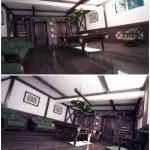 3d interior of the billiard room — Stock Photo
