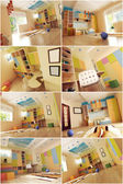 3d interior of the child's room — Stock Photo
