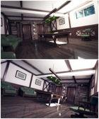 3d interiér místnosti s kulečníkem — Stock fotografie
