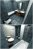 Interior 3d del bagno — Foto Stock