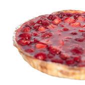 Half of the strawberry pie — Stock Photo