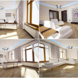 3d interior of the living room - Foto Stock