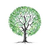 A tree, summer, drawing — Stock Photo