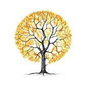 El árbol, otoño, dibujo — Foto de Stock