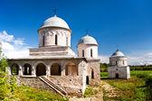 View of two churchs in Ivangorod — Stock Photo