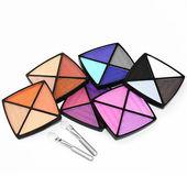 Zestaw multicolor cienie do powiek — Zdjęcie stockowe