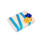 Beige gift box — Stock Photo
