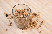 Natural muesli with oats and nuts — Stock Photo