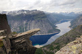 Trolltunga in Norway — Stock Photo