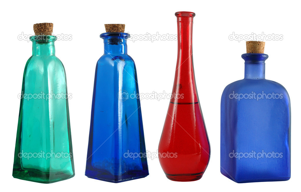 Color small bottles on white  Stock Photo #10825208