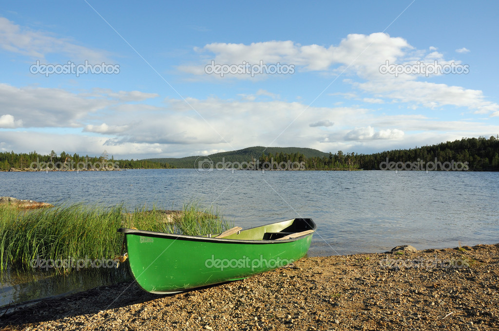 Kayak on coast, Sweden  Stock Photo #10858649