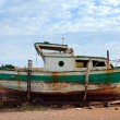 Stock Photo: Old fishermen boat