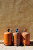 Gas bottles — Stock Photo