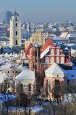 Vilnius cityscape, winter — Stock Photo