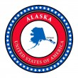 Vector de stock : Label Alaska