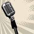 Vintage microphone abstract — Stock Vector