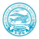 Antarctica stamp — Vector de stock