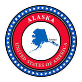 Label Alaska — Stock Vector