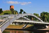 Vilnius, toren van gediminas — Stockfoto