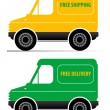 Stock Vector: Delivery car