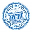 Stamp Greece - Stock Vector