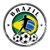 Brazil football — Stock Vector