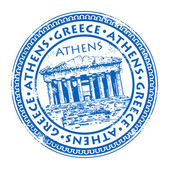 Stamp Greece — Stock Vector