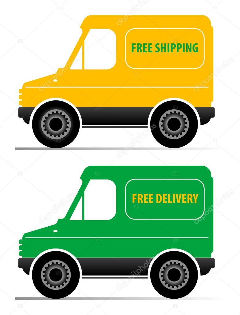 Delivery car illustration — Stock Vector #11238478