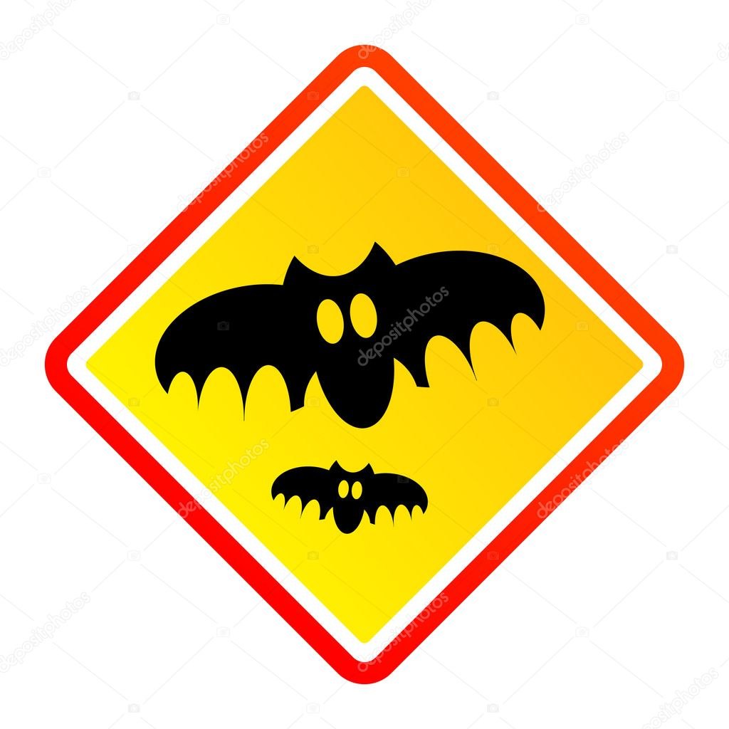 Bat danger sign — Stock Vector #11239093