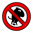No pooping — Stock Vector