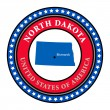 Label North Dakota — Stock Vector