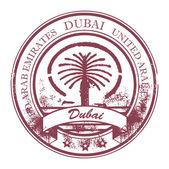 Stamp Dubai, United Arab Emirates — Stock Vector
